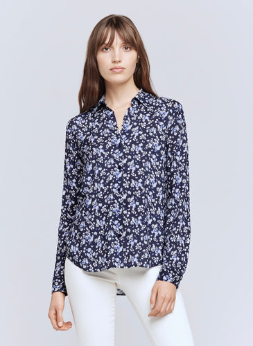 Holly Blouse Navy/Ivory Floral