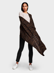Zebra Mini Travel Wrap Chestnut Heather/Black