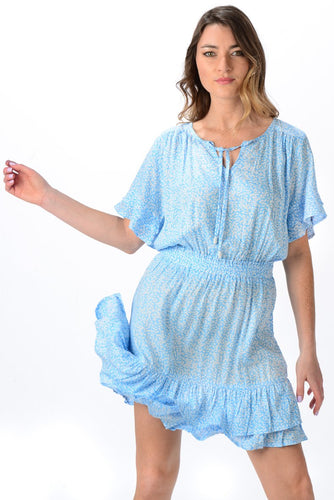 Courtney Dress Sky Blue