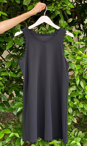 Ines Round Neck Dress Black