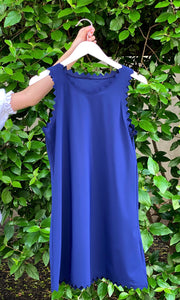 Ines Round Neck Dress Navy