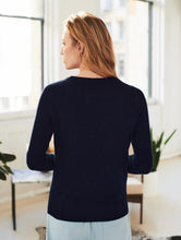 Load image into Gallery viewer, Long Sleeve Crewneck Deep Navy