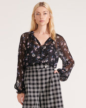 Load image into Gallery viewer, Antonette Top Black Multi
