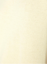 Load image into Gallery viewer, Close up of the knitting of a  pale yellow crew neck sweater.