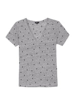 Load image into Gallery viewer, Cara Tee Heather Grey Cactus