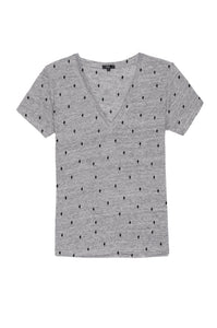 Cara Tee Heather Grey Cactus