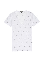 Load image into Gallery viewer, Cara Tee White Mini Pineapples