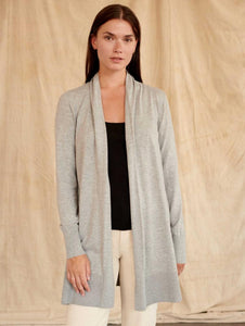 Cotton Open Cardigan Cool Grey