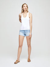 Load image into Gallery viewer, Drew Racerback Tank White