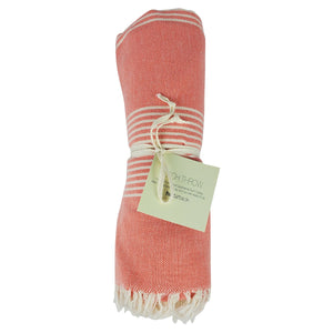 Beach Throw Coral