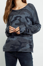 Load image into Gallery viewer, Louie Sweater Charcoal Camo