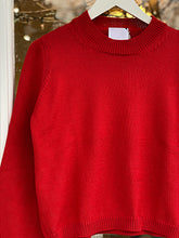 Load image into Gallery viewer, Round Neck Pullover Red