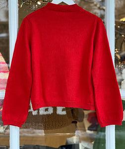 Round Neck Pullover Red