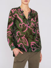 Load image into Gallery viewer, Paisley Blouse Green