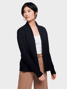 Trapeze Mini Cardigan Black