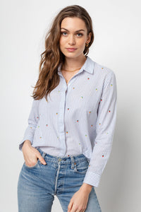 Taylor Embroidered Citrus Blouse