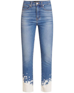Carly Splatter Kick Flare Jean