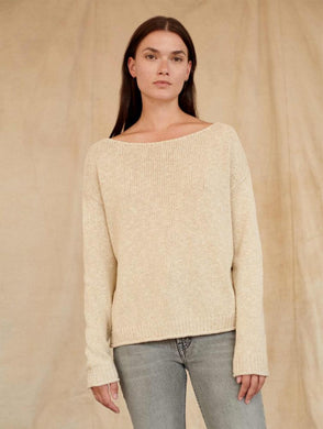 Cotton Linen Marled Crewneck