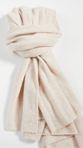 Cashmere Travel Wrap Wheat Heather