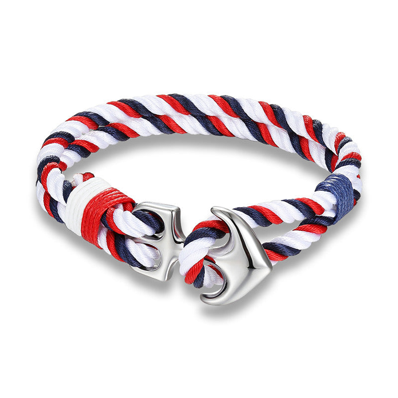 High Quality Nautical Survivor Rope Anchor Bracelet