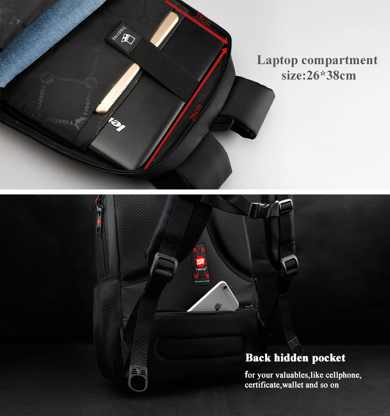 Luxury Waterproof, Light Weight, Shock-Proof, Anti Theft 15.6 inch Laptop Backpack - 35 Liter