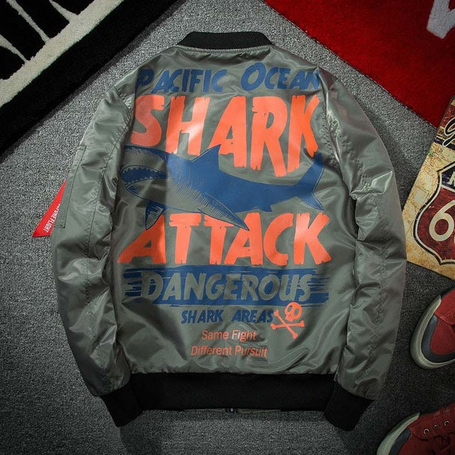 """Shark Attack"" Bomber Jacket"