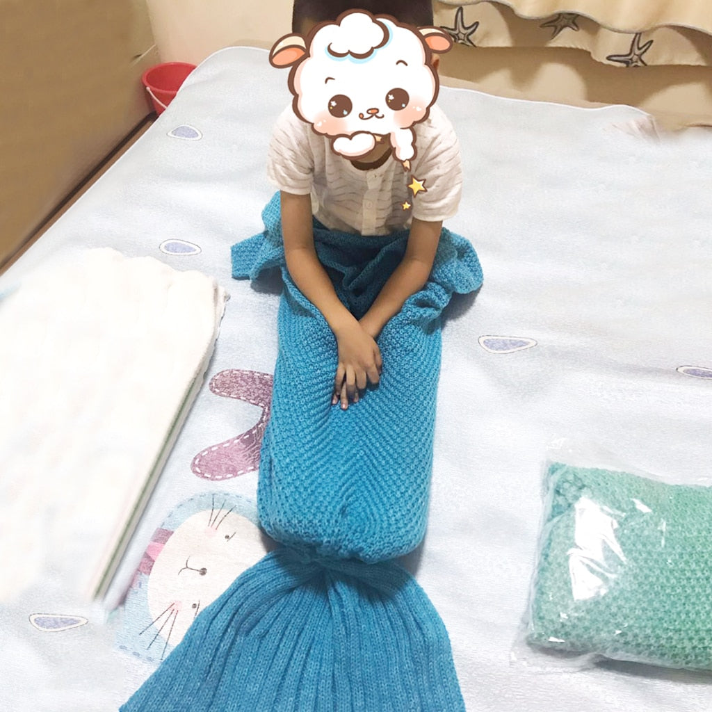 Handmade Super Soft Mermaid Tail Blanket (Baby, Child, Adult)