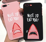 """NICE TO EAT YOU!"" Shark iPhone Case"
