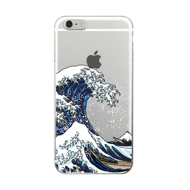 """The Great Wave off Kanagawa"" Soft iPhone/Samsung Case"