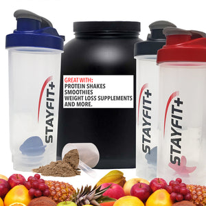 Protein Bottle Shaker 3-Pack (Black)