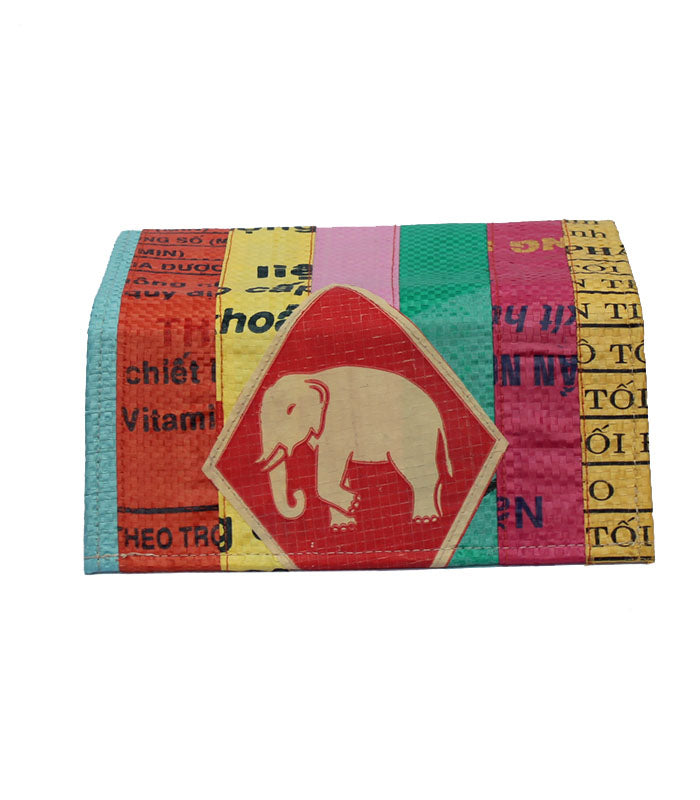 Recycled Patchwork Ladies Long Wallet
