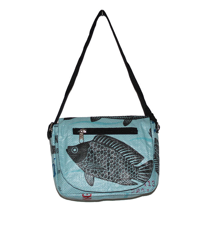 Small Messenger Bag - Recycled Fish Feed