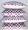 Plum Oriental Scatter Cushions - Organic Cotton