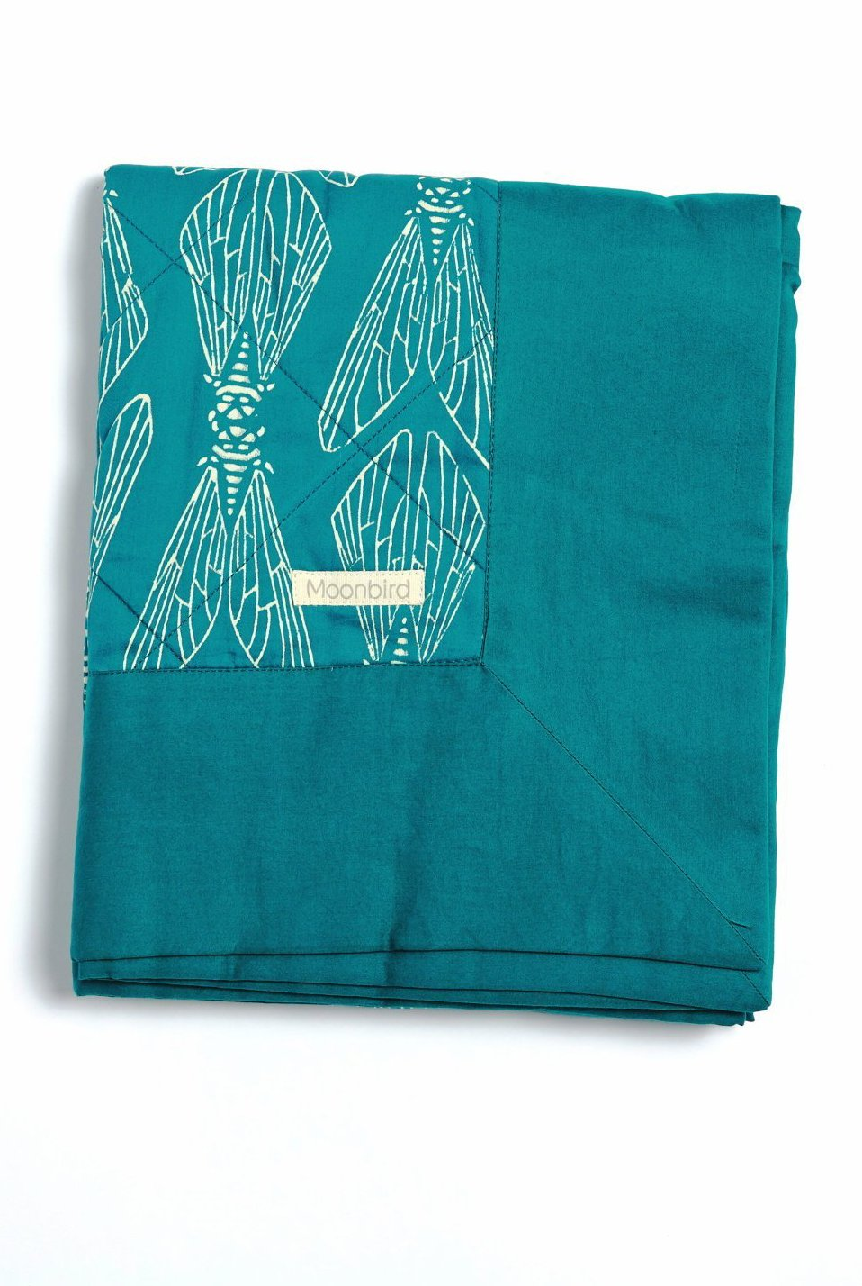 Organic Cotton Single Coverlet - Emerald Cicada