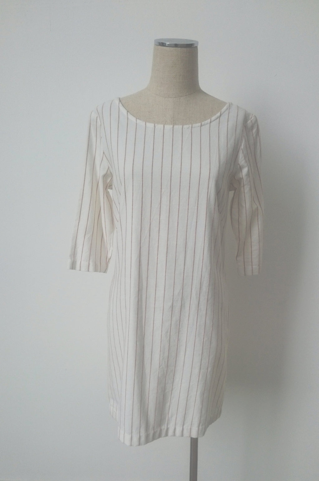 Atacama Dress - Peach Stripe - Handwoven Cotton Ikat
