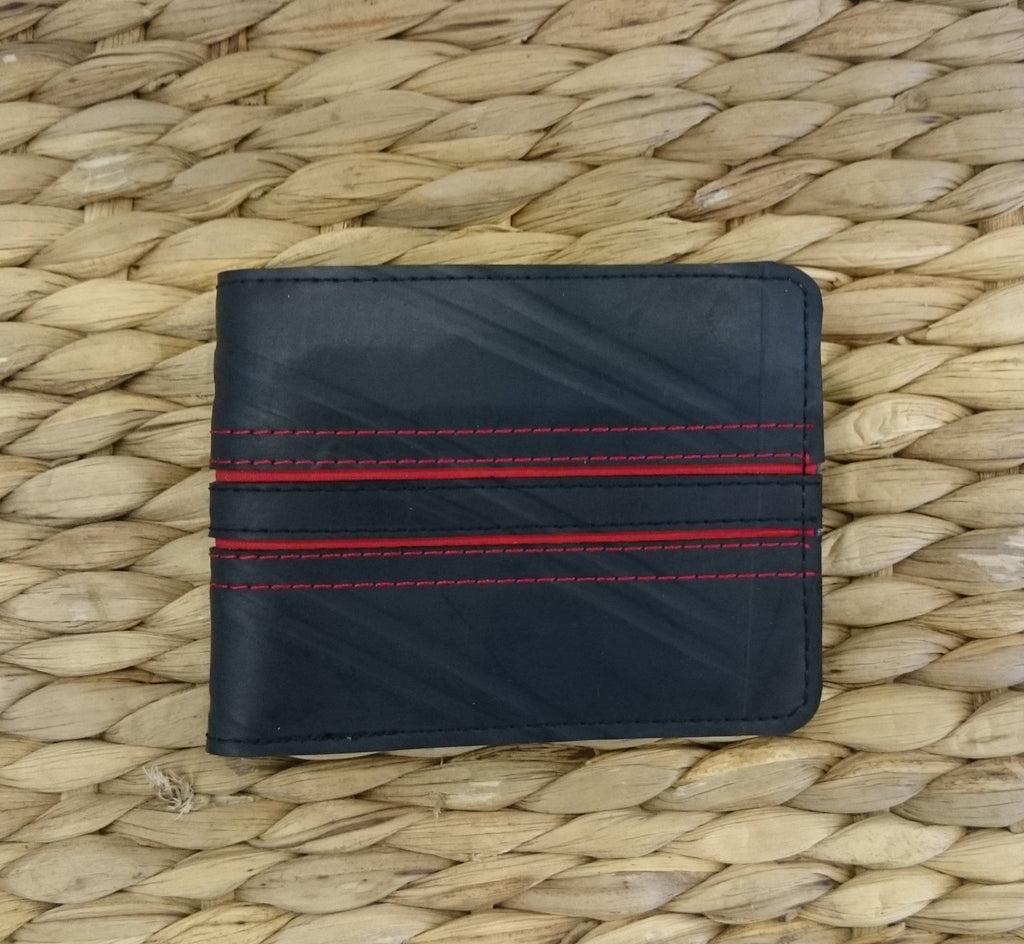 Mens Flip Wallet - Recycled Tyre