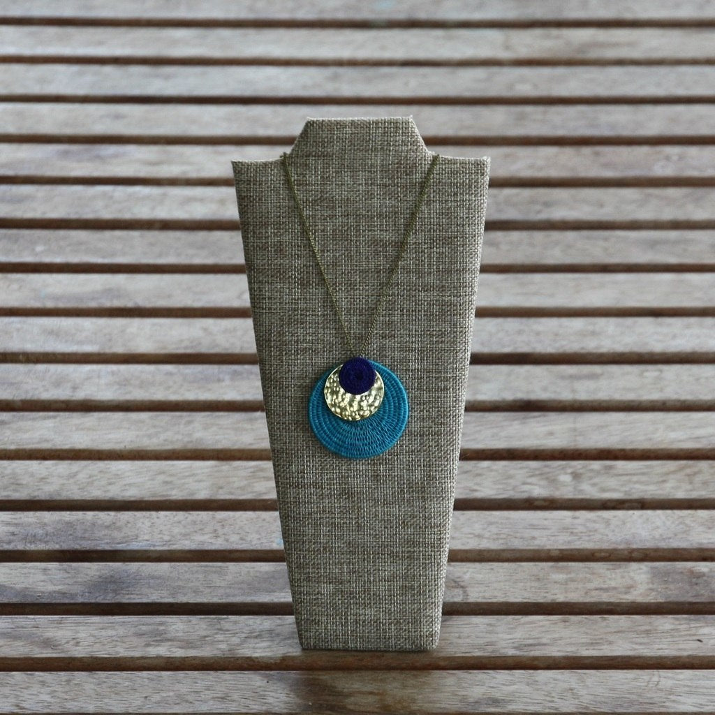Eclipse Sun - Woven Sisal & Brass Necklaces