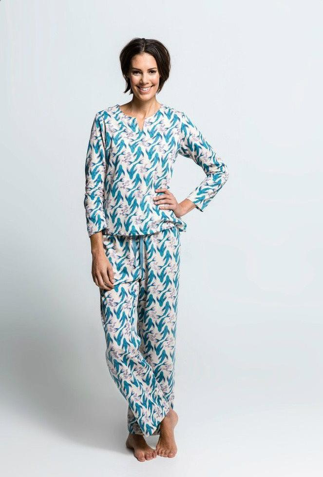 Koi Karma - Organic Cotton Sleepwear - Tunic Top with Pants