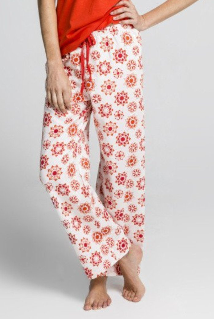 Women's Ethical Organic Cotton Red Pyjama Pants