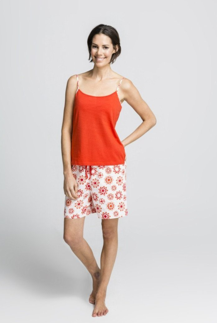 Women's Ethical Organic Cotton Red Short Pyjama