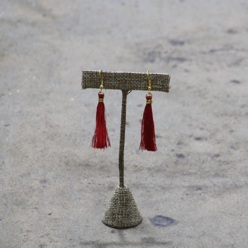 Tassel Earrings - Sisal & Brass