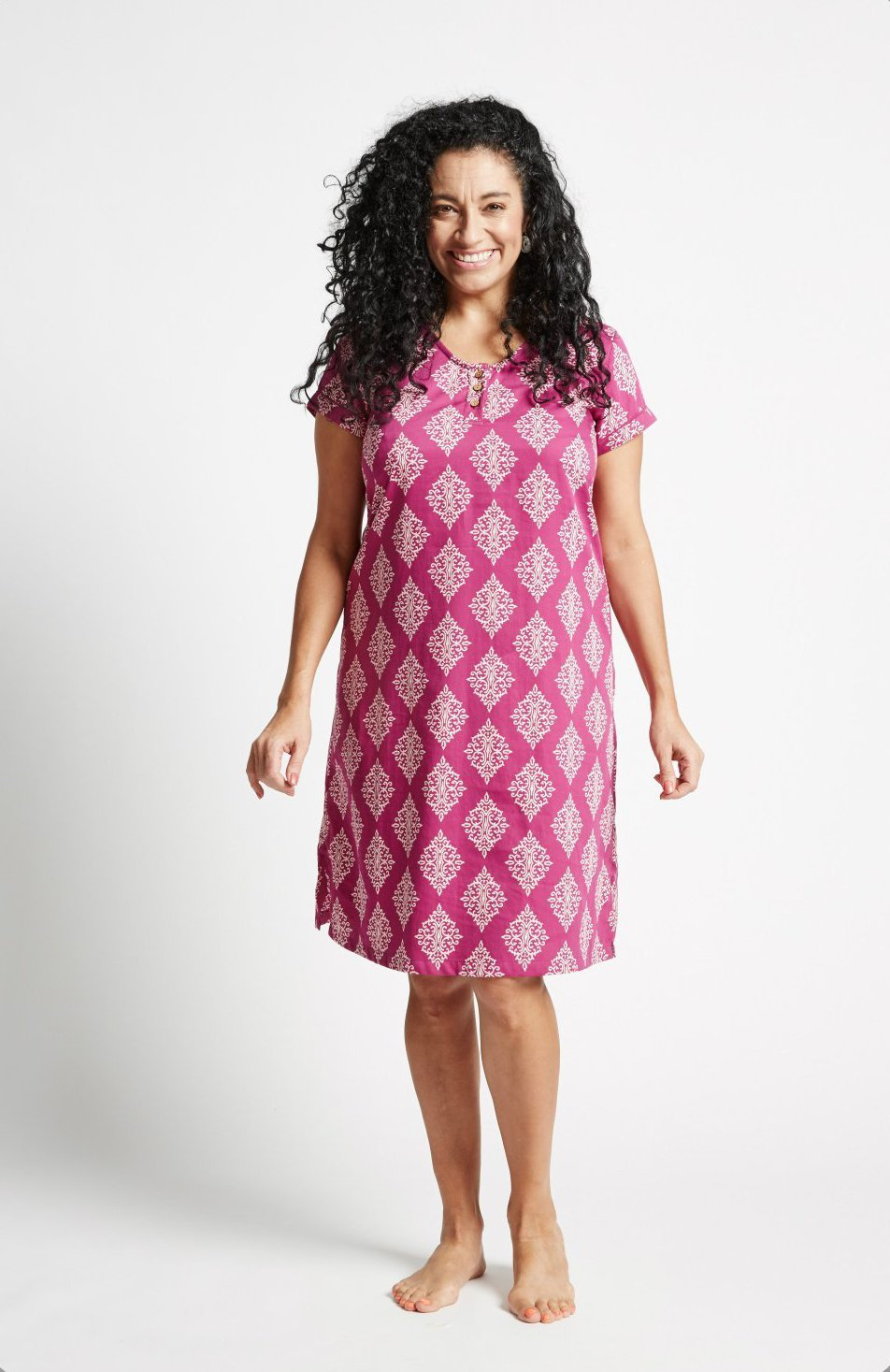 Women's Ethical Organic Cotton Pink Nightie