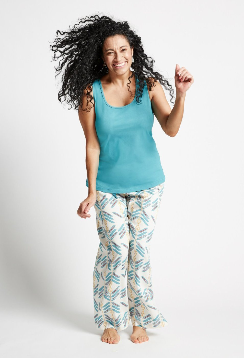Peas in the Pod - Racer Top and Pants Loungewear Set
