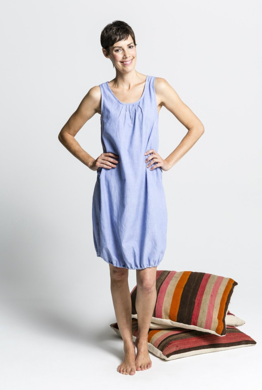 Women's Ethical Organic Cotton Blue Nightie