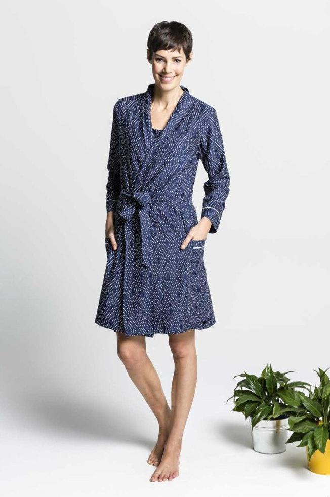 Women's Ethical Organic Cotton Dressing Gown Set