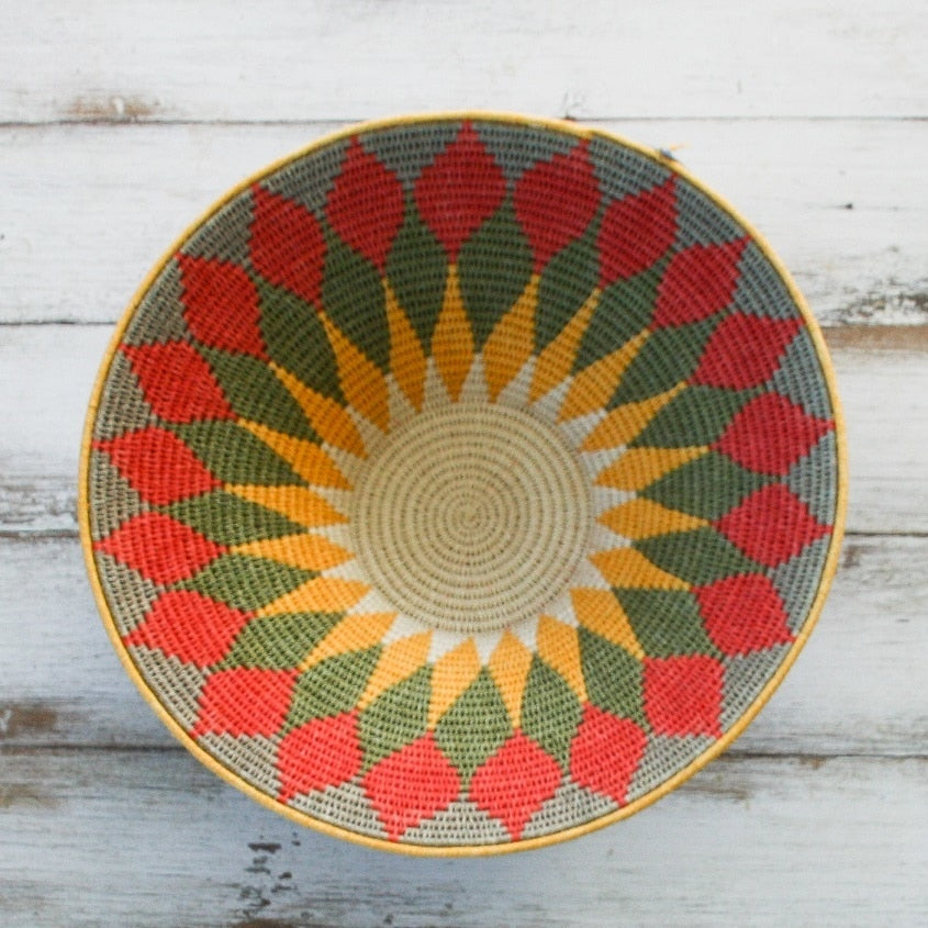 Colourful African Baskets/ Wall Hanging - Large