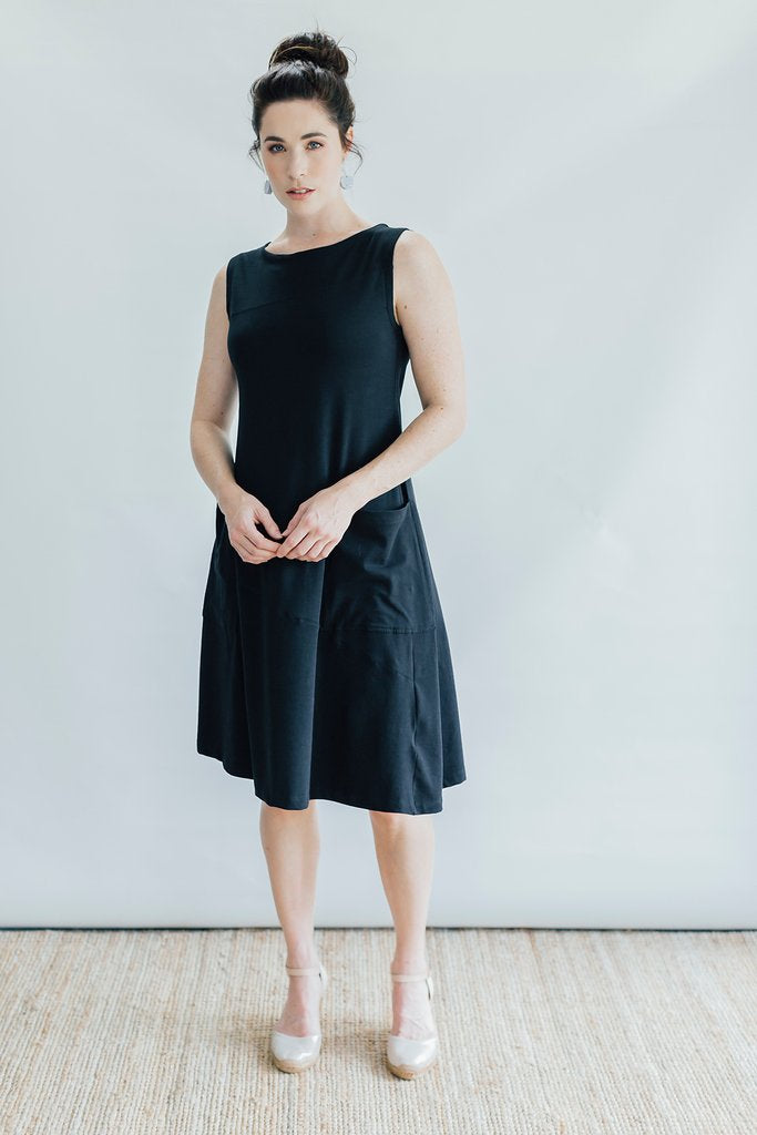 Coppice Black Tunic - Fair Trade & Organic Cotton