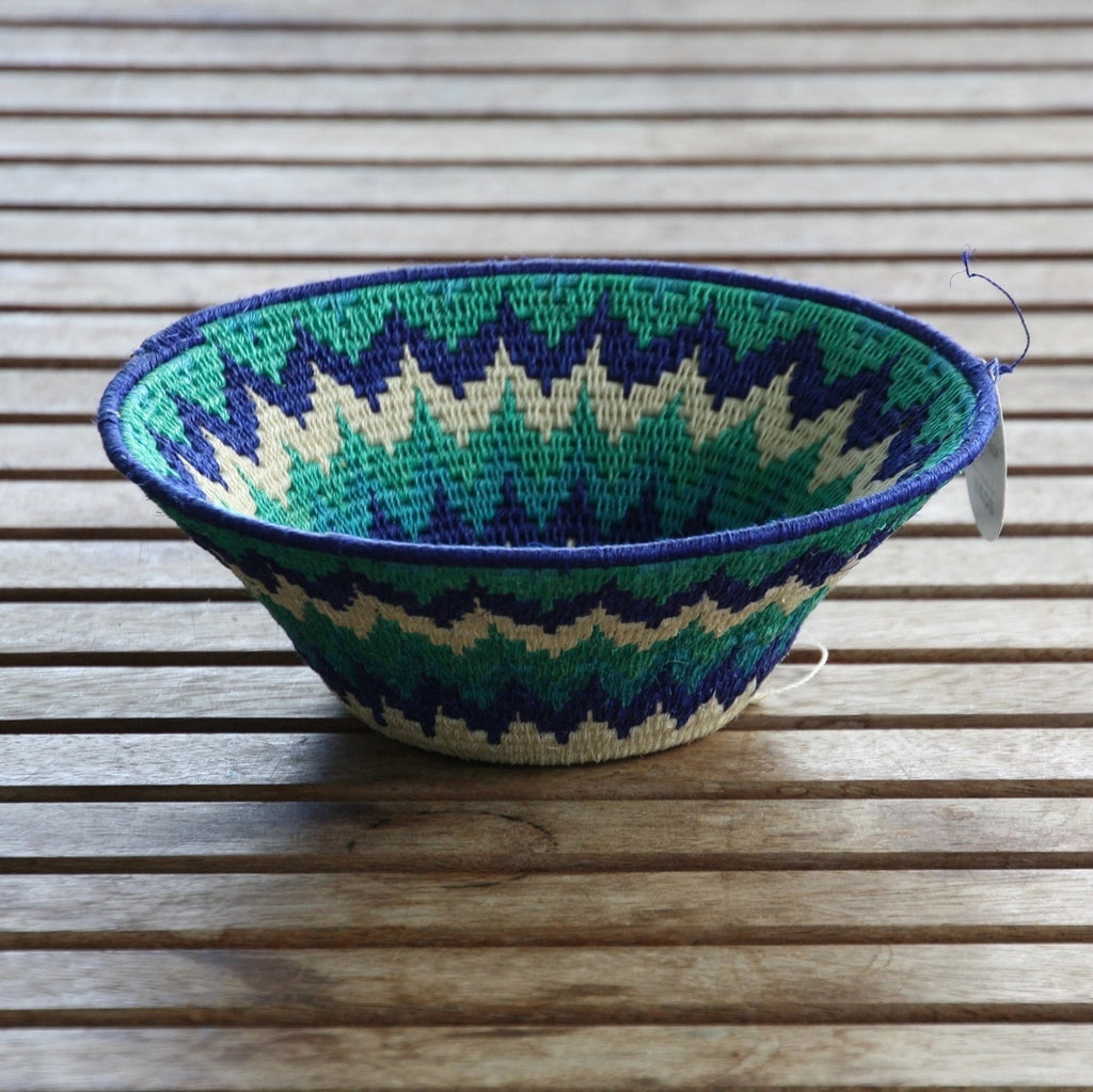 African Colourful Woven Baskets - Medium