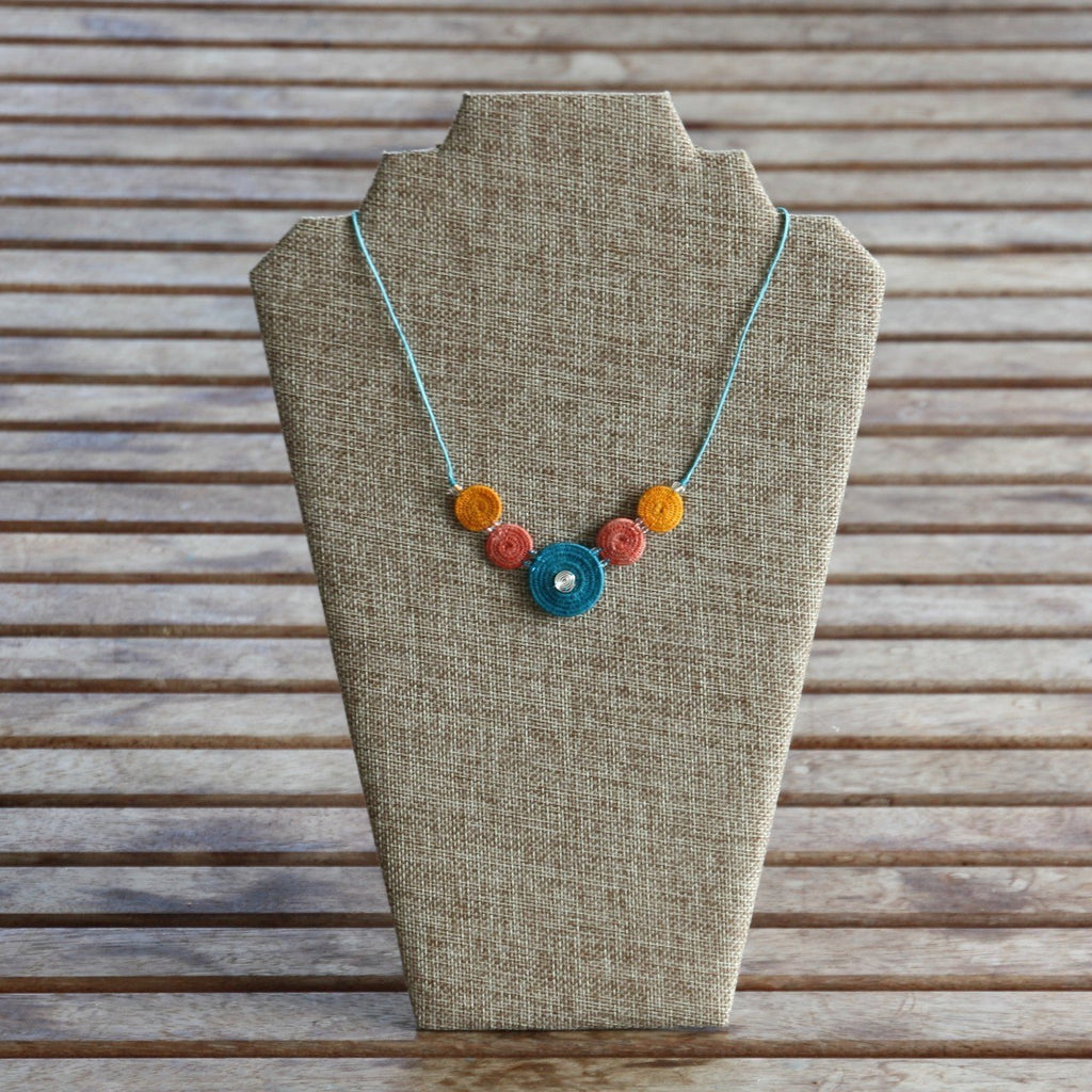 Spiral - Woven Sisal Necklace - Fair Trade Jewellery