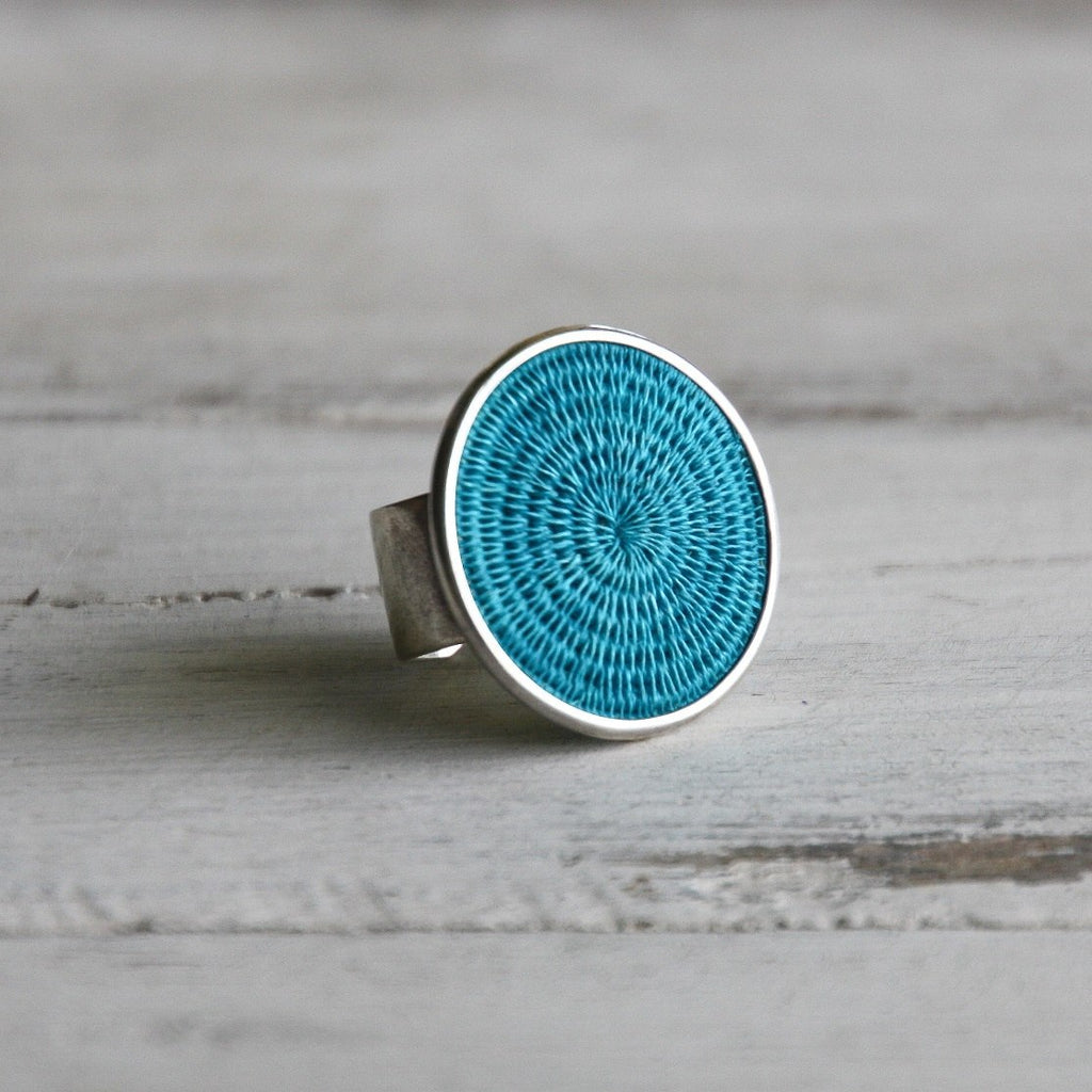 Sterling Silver - Woven Sisal Rings - Fair Trade